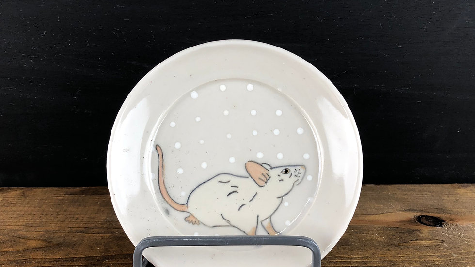 small mouse dessert plate