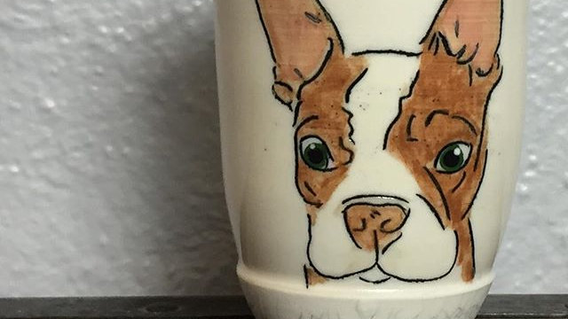 custom pet or animal tumbler