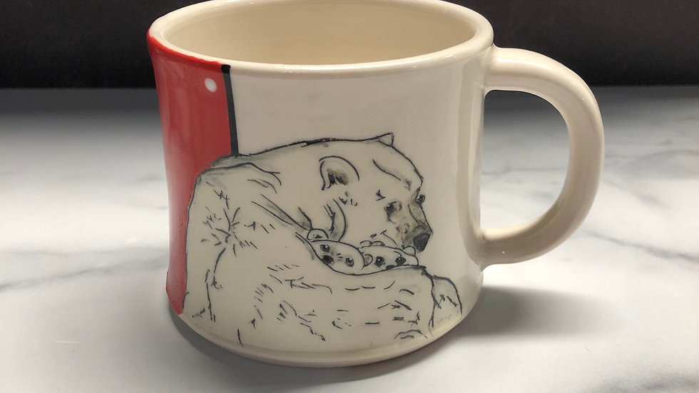 Family of polar bears mug