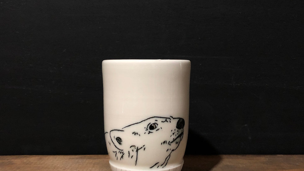 swimming polar bear tumbler