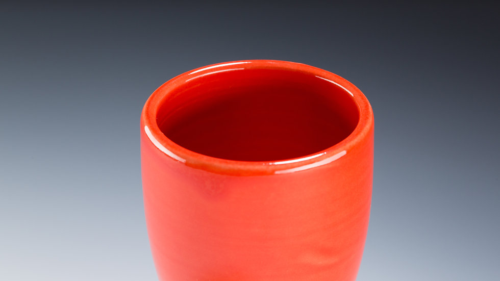red crackle tumbler
