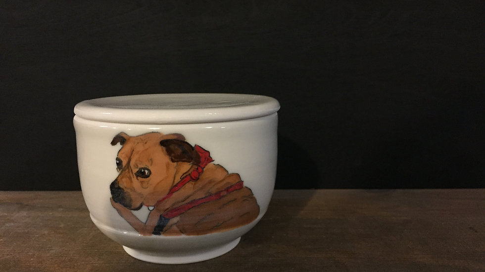 Custom butter crock