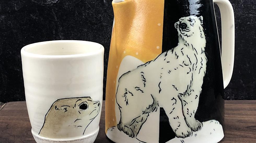 polar bear tea/coffee pot