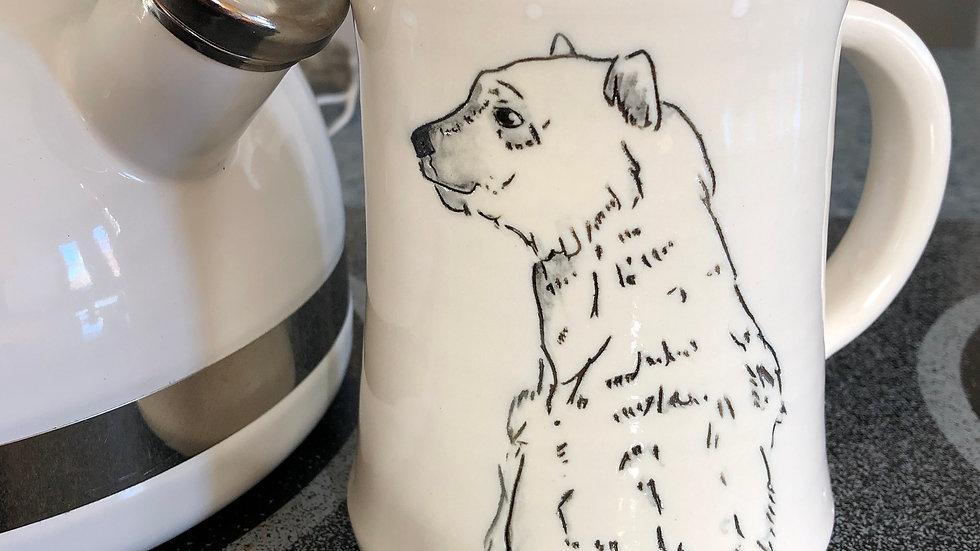 standing polar bear mug