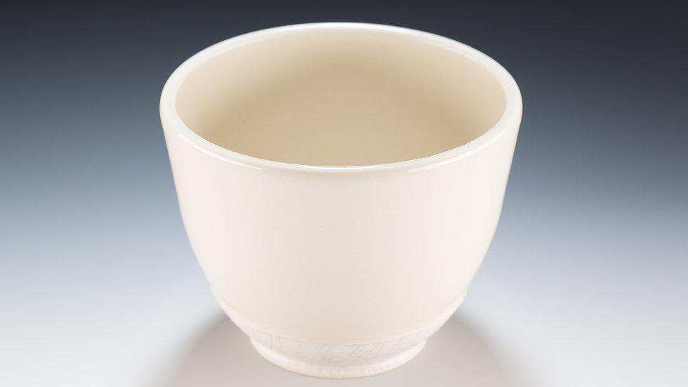 natural white crackle bowl