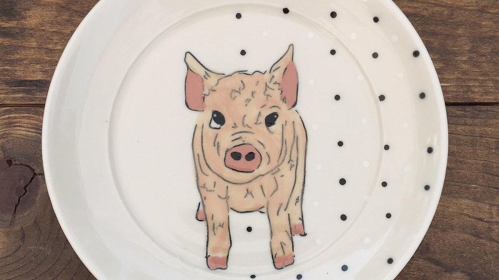 pig dessert plate