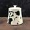 Thumbnail: black and white cat treat jar
