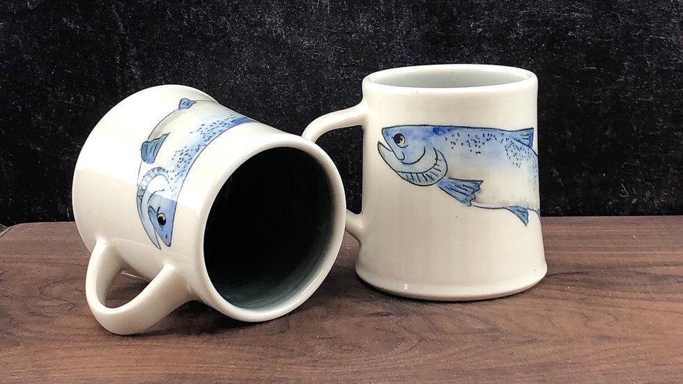 blue salmon mug