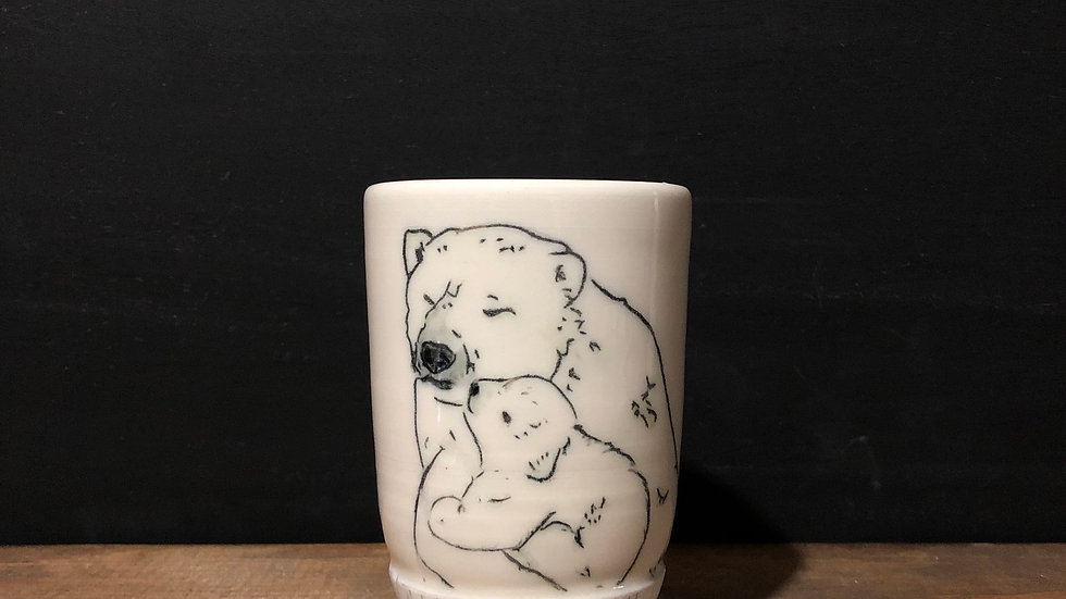 polar bear cuddles tumbler