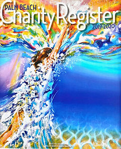 Lynne Barletta's Art featured on cover of Palm Beach Charity Magazine, Break Out!
