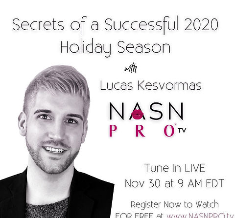 NASNPROtv on November 30th for Esthetic Education for Professionals