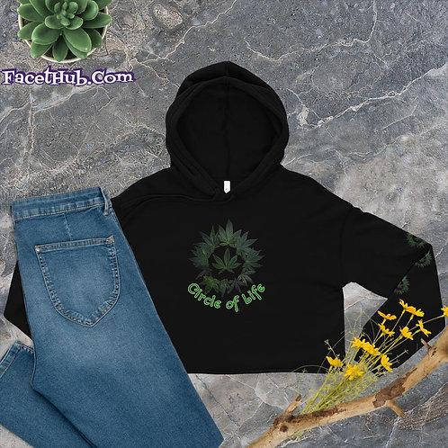 Circle of Life Botanical Cropped Hoodie