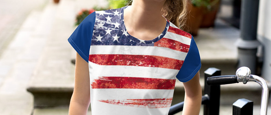 American Flag Cropped Tee