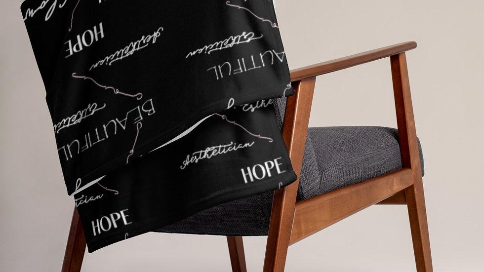 NANSPRO Throw Blanket - BLACK
