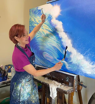 """Lynne Barletta painting """"Wave"""" (goes with Wave).jpg"""