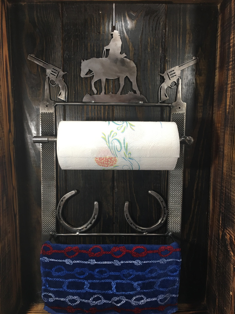 Western Paper Towel Holder & Towel Rack