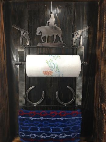 Western Paper Towel Holder & Towel Rack