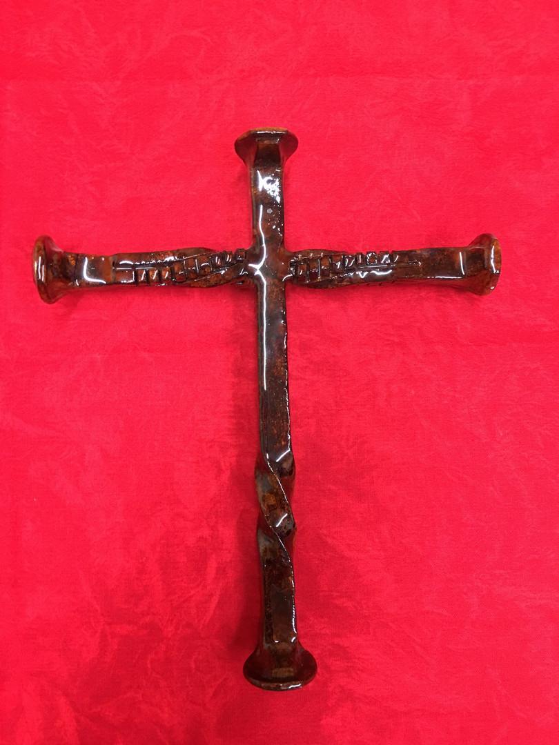 Railroad Spike Cross (Rust Stain)