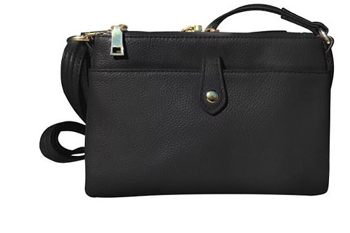 Front Clasp Leather Compact Purse 7046