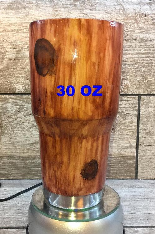 Hand Painted Wood Grain Tumbler