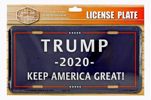 Trump 2020 License Plate