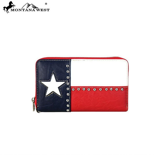 Montana West Texas Pride Collection Wallet-Wristlet
