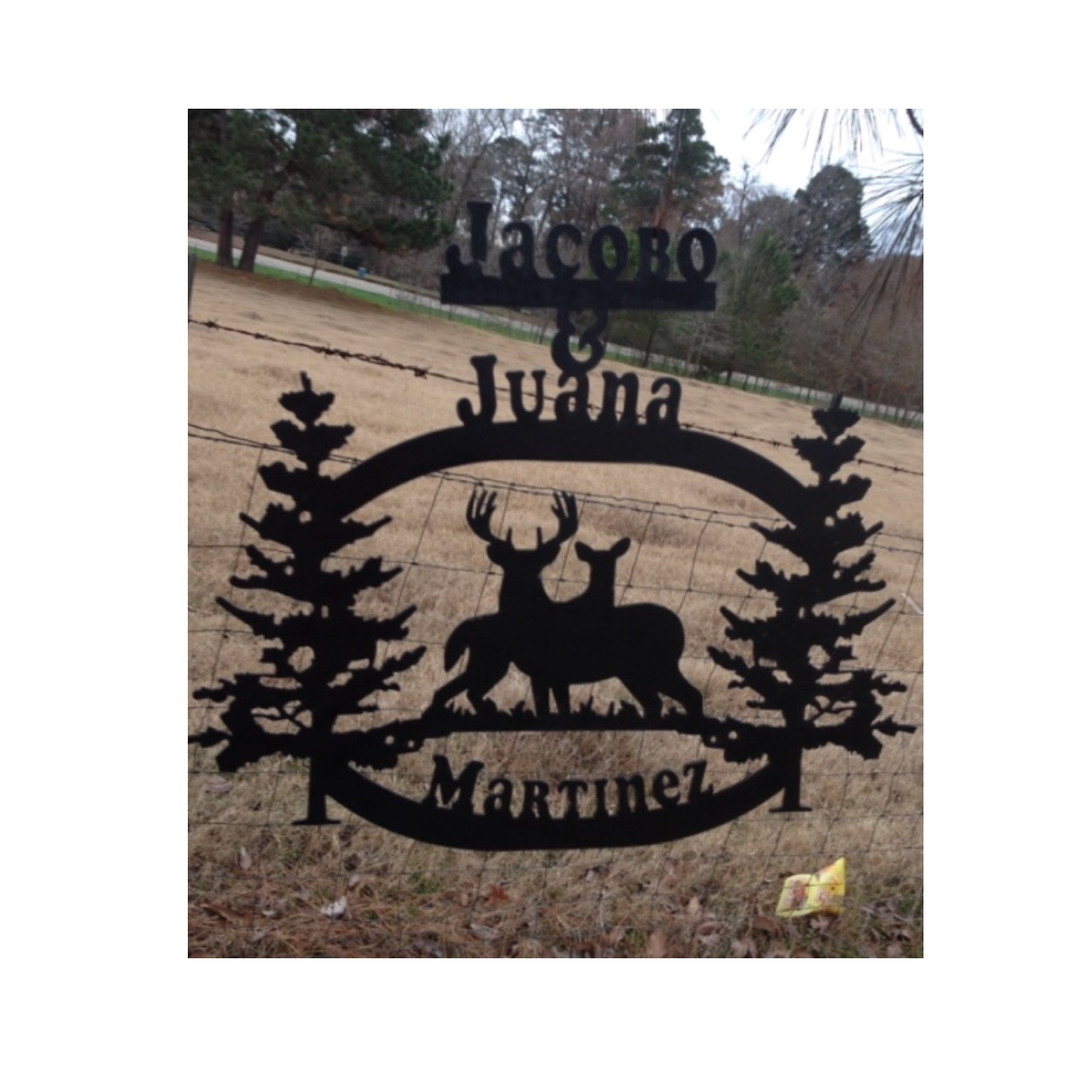 Martinez Personalized Deer Sign