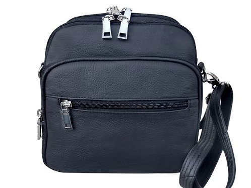 Square Leather Concealment Crossbody Bag 7023
