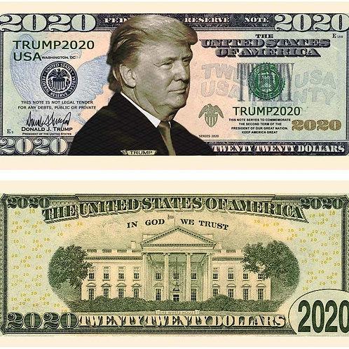 Trump 2020 Dollar Bill