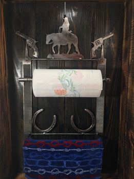 Western Paper Towel Holder & Towel Rack video