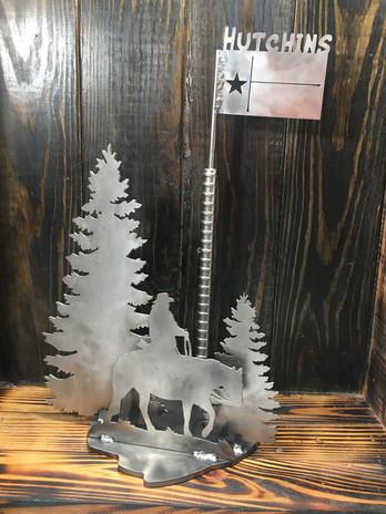 Cowboy Trees & Texas Flag