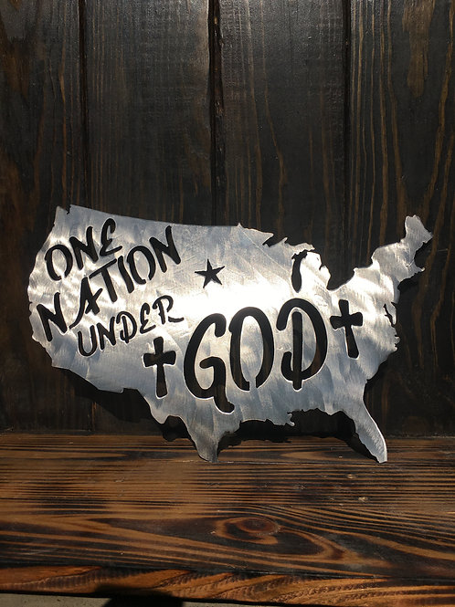 One Nation Under God (United States Sign)