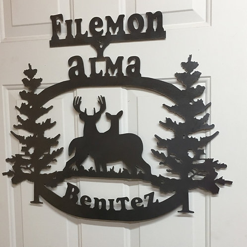 Personalized Deer Sign