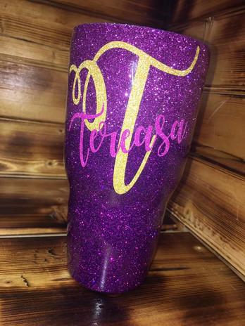 Purple Glitter Ombre