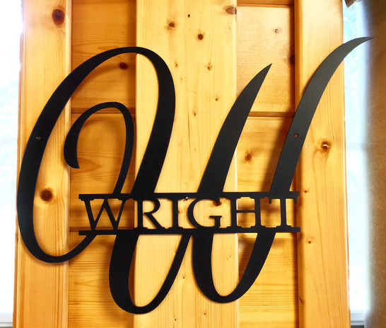 Monogrammed Sign made for a wedding show