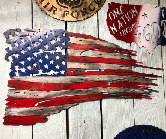 One of our hand painted USA Distressed F