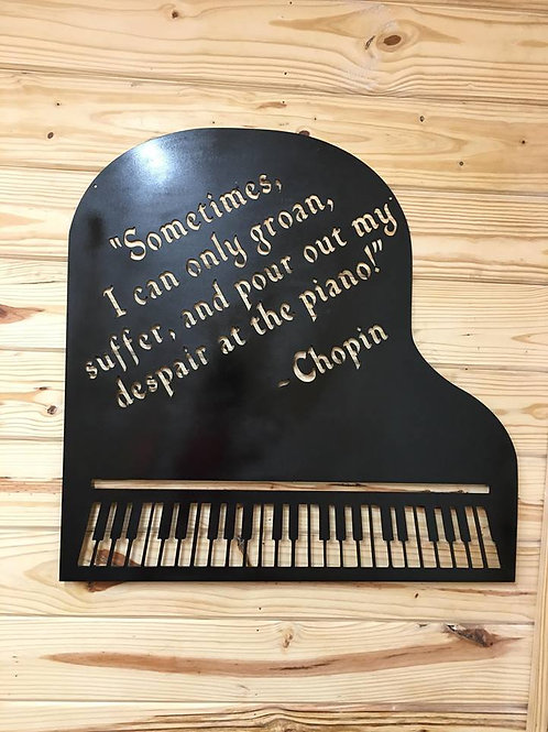 Personalized Piano Sign / Sheet Music Holder