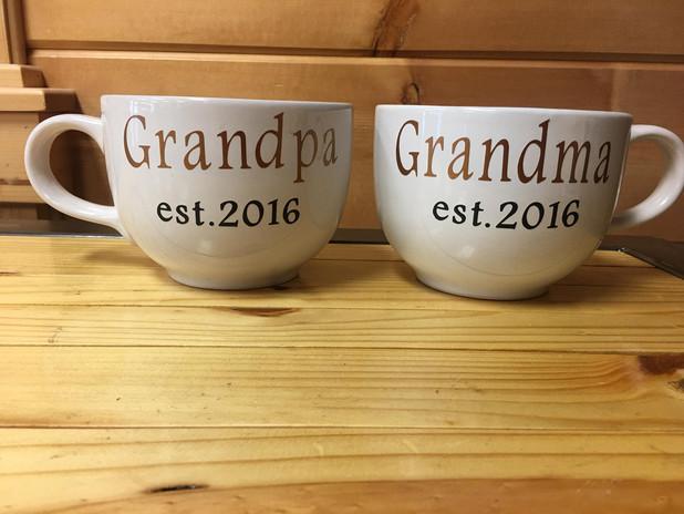 Grandpa & Grandma Cups