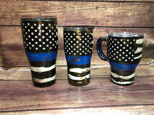 Thin Blue Line Flag Tumbler