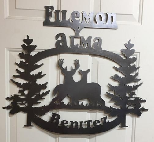 Benitez Personalized Deer Sign