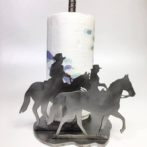 Cowboy & Cowgirl Western Paper Towel Holder
