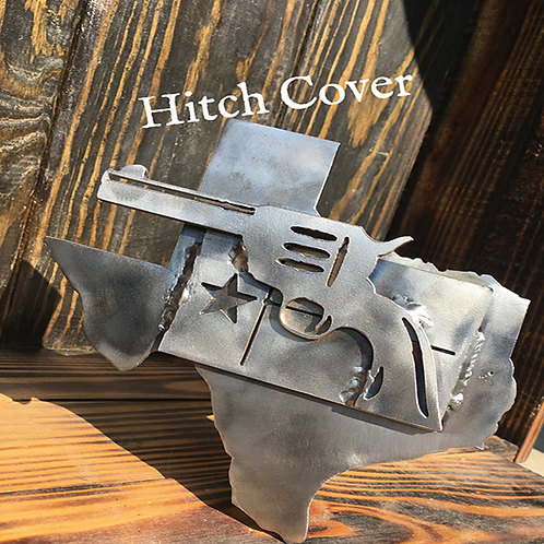 Texas State, Flag & Gun Hitch Cover
