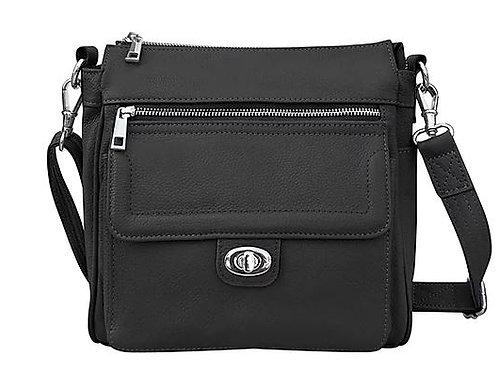 Front Pocket Leather Concealment Crossbody Bag 7084