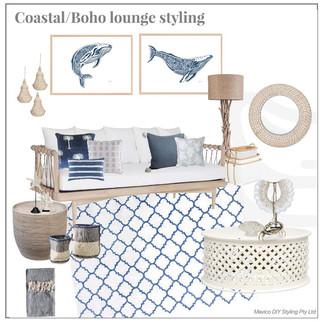 Coastal Boho lounge styling