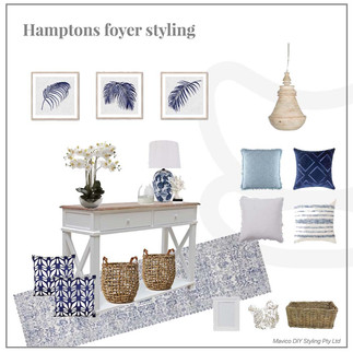 Hampton's foyer moodboard