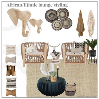 African Ethnic lounge styling