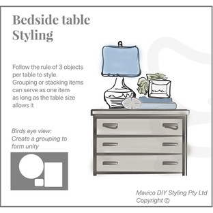 Bedside table styling