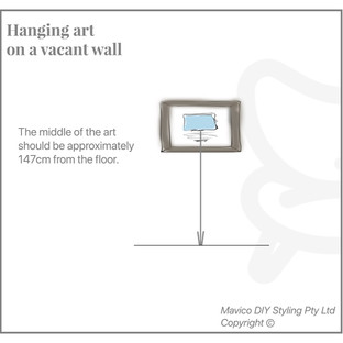 Hanging art on vacant wall