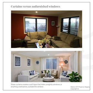 Curtains versus unfurnished windows