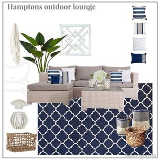 Hamptons outdoor lounge